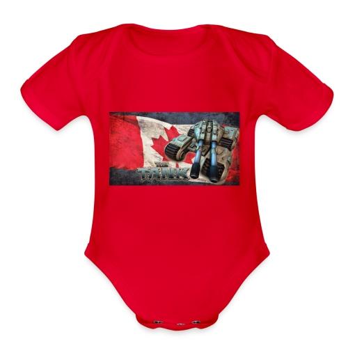 The Tank RC 100% Canadien - Organic Short Sleeve Baby Bodysuit