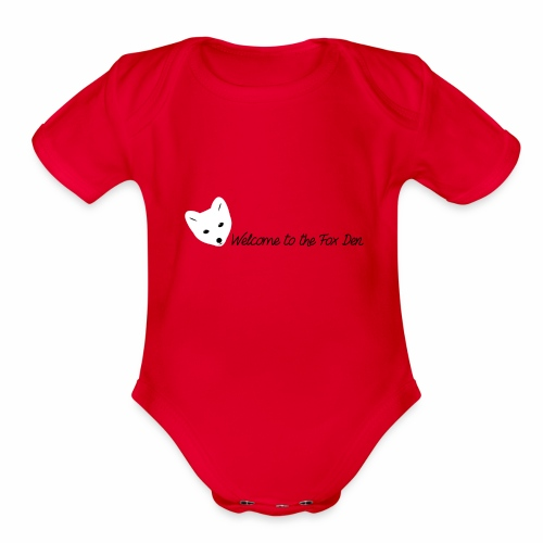 Welcome to the Fox Den! - Organic Short Sleeve Baby Bodysuit