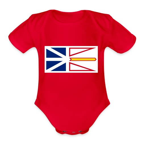 1200px Flag of Newfoundland and Labrador svg - Organic Short Sleeve Baby Bodysuit