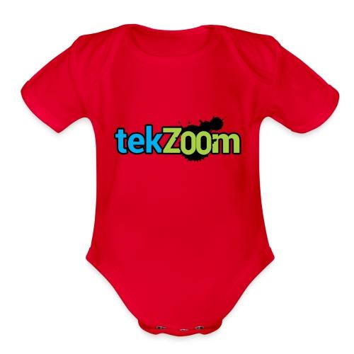 Logo Full - Organic Short Sleeve Baby Bodysuit