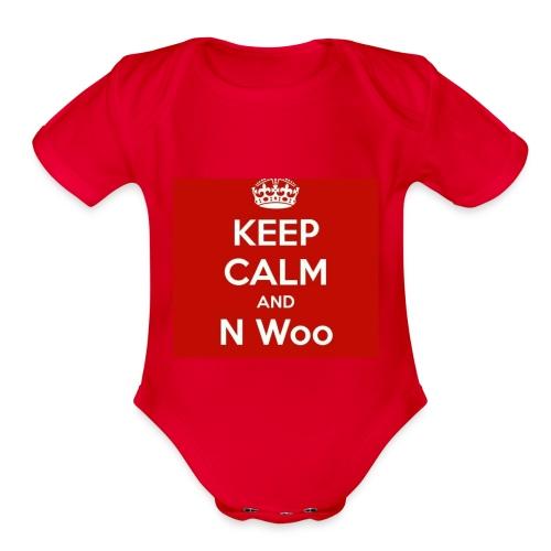 N woo - Organic Short Sleeve Baby Bodysuit