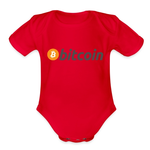 Bitcoin Logo Wear - Organic Short Sleeve Baby Bodysuit