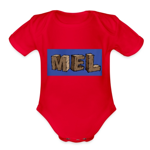 MEL MERCH - Organic Short Sleeve Baby Bodysuit