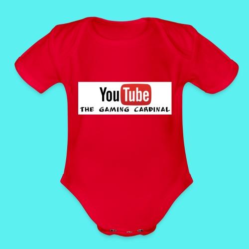 Youtube temp logo - Organic Short Sleeve Baby Bodysuit