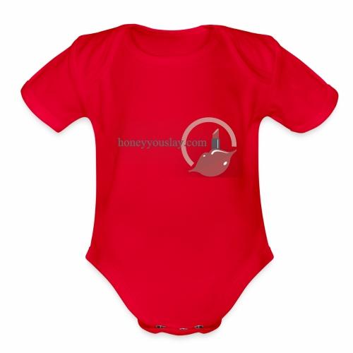 honey you slay - Organic Short Sleeve Baby Bodysuit
