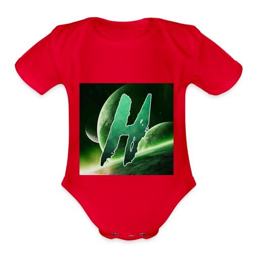Hoax Logo - Organic Short Sleeve Baby Bodysuit
