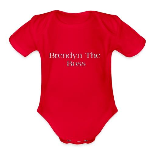 Brendyn The Boss - Organic Short Sleeve Baby Bodysuit