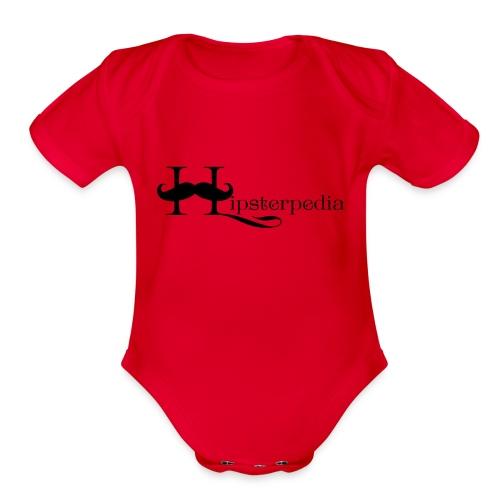 Hipsterpedia Logo - Organic Short Sleeve Baby Bodysuit