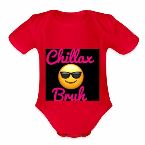 Chillax Bruh Black in Black edition - Organic Short Sleeve Baby Bodysuit