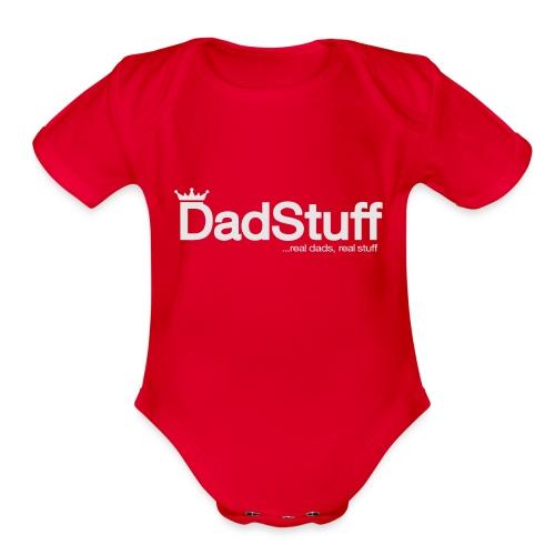 DadStuff Full View - Organic Short Sleeve Baby Bodysuit