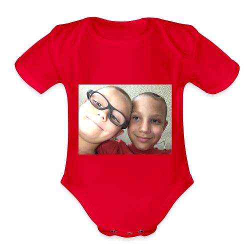 KillaBoy4521&Gunshot4521 - Organic Short Sleeve Baby Bodysuit
