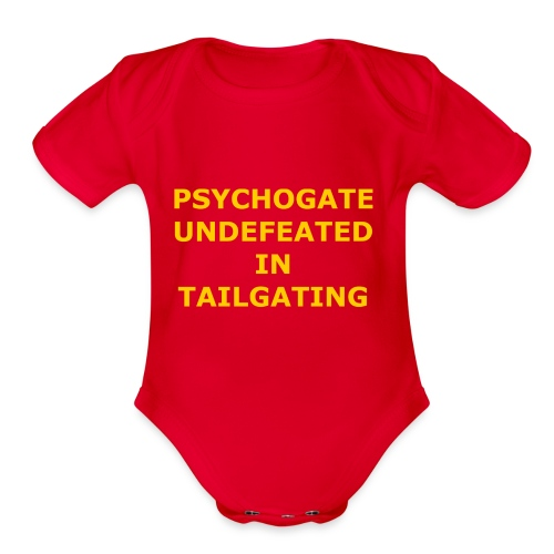 Undefeated In Tailgating - Organic Short Sleeve Baby Bodysuit