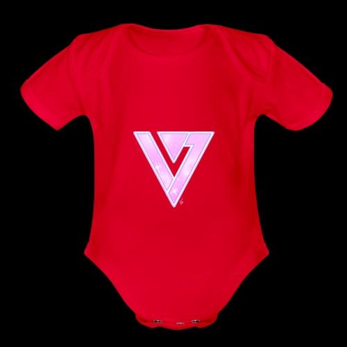 Seventeen Black T-Shirt - Organic Short Sleeve Baby Bodysuit