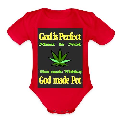 God made Pot - Organic Short Sleeve Baby Bodysuit