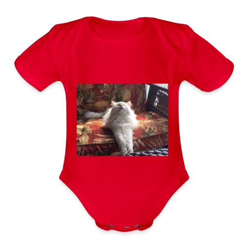 minion cat - Organic Short Sleeve Baby Bodysuit