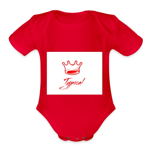 typical royalty - Organic Short Sleeve Baby Bodysuit
