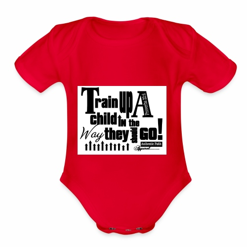 Train UP a child - Organic Short Sleeve Baby Bodysuit