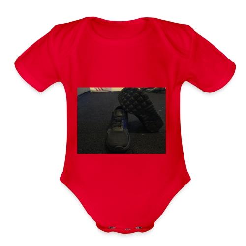 LIT NIKES - Organic Short Sleeve Baby Bodysuit