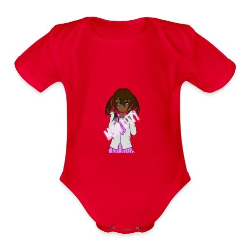 Alien Kitty's Attire - Organic Short Sleeve Baby Bodysuit