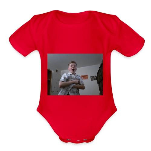 Xavier bongo hoodie/ wow - Organic Short Sleeve Baby Bodysuit