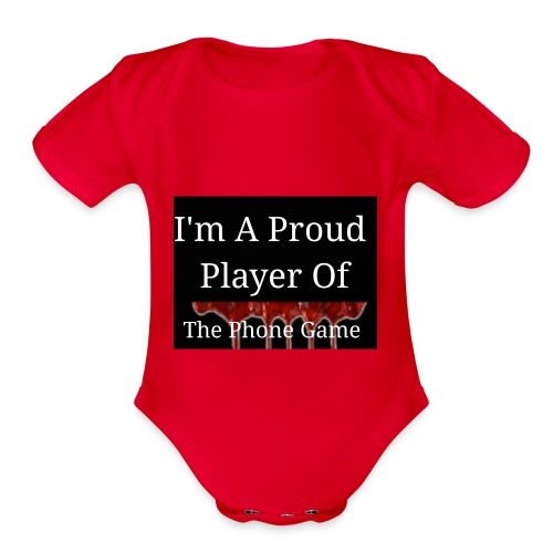 The Phone Game Proud Player - Organic Short Sleeve Baby Bodysuit