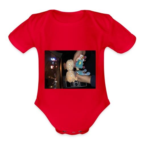 rugrats are my favorite - Organic Short Sleeve Baby Bodysuit