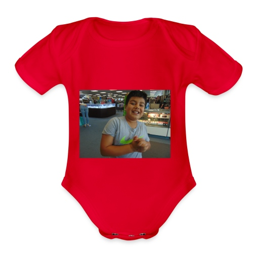 DSC00053 - Organic Short Sleeve Baby Bodysuit