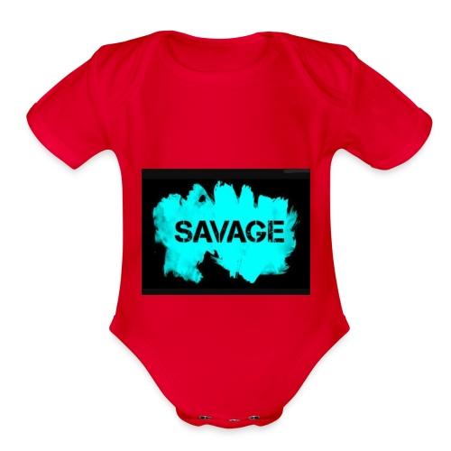 Savage merchandise - Organic Short Sleeve Baby Bodysuit