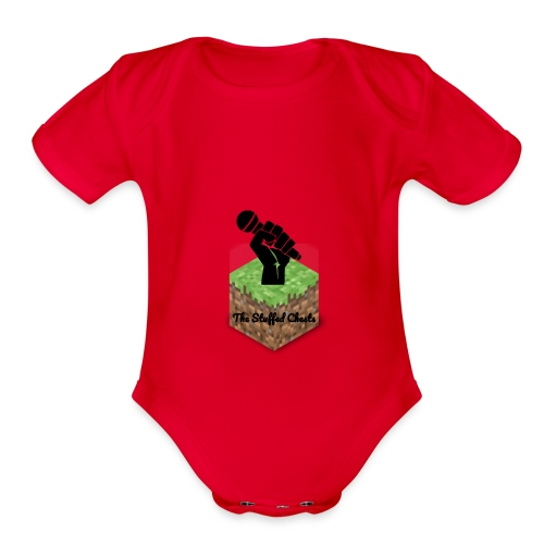 Stuffed Chests Logo - Organic Short Sleeve Baby Bodysuit