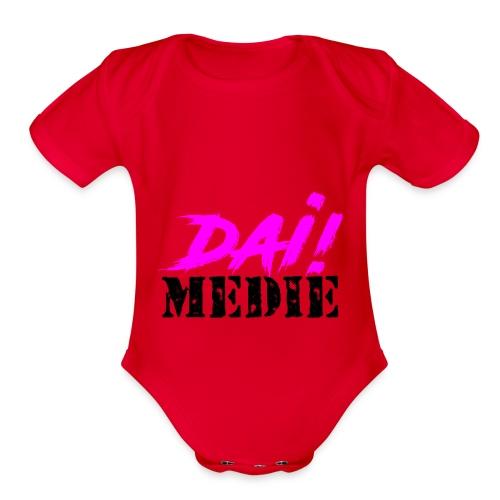 dia medie - Organic Short Sleeve Baby Bodysuit