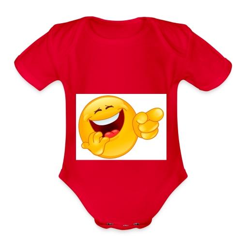 emoticon - Organic Short Sleeve Baby Bodysuit