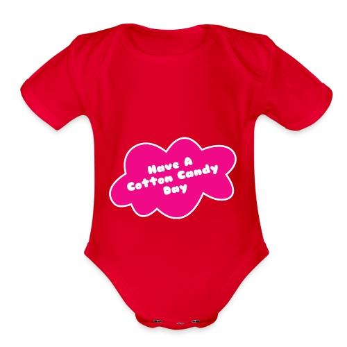 Cotton candy - Organic Short Sleeve Baby Bodysuit