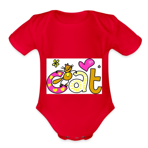 cat 1 - Organic Short Sleeve Baby Bodysuit