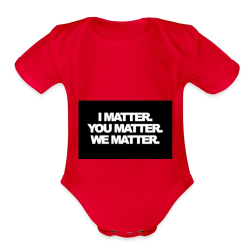 We matter - Organic Short Sleeve Baby Bodysuit