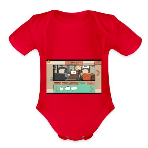 Teh comic - Organic Short Sleeve Baby Bodysuit