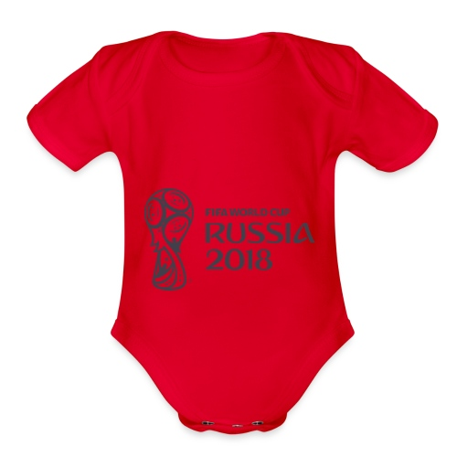 World Russia 2018 - Organic Short Sleeve Baby Bodysuit