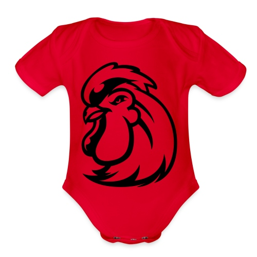 Peckers head t - Organic Short Sleeve Baby Bodysuit