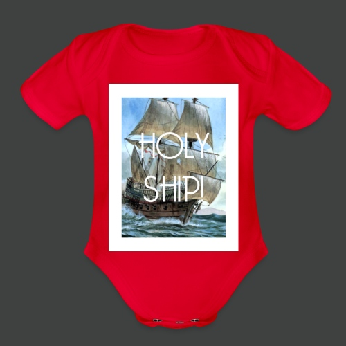 Holy Ship - Organic Short Sleeve Baby Bodysuit