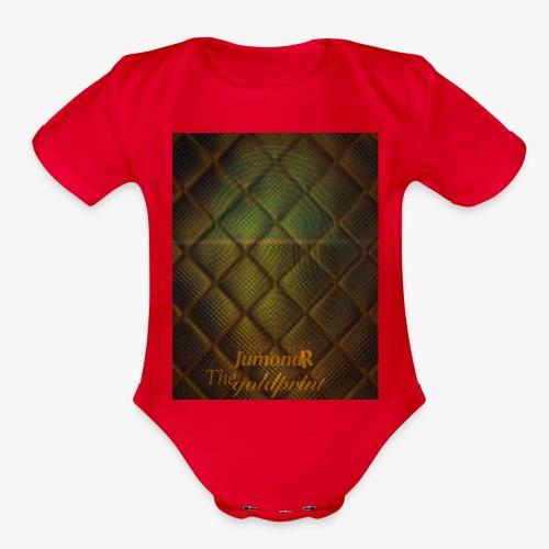 JumondR The goldprint - Organic Short Sleeve Baby Bodysuit