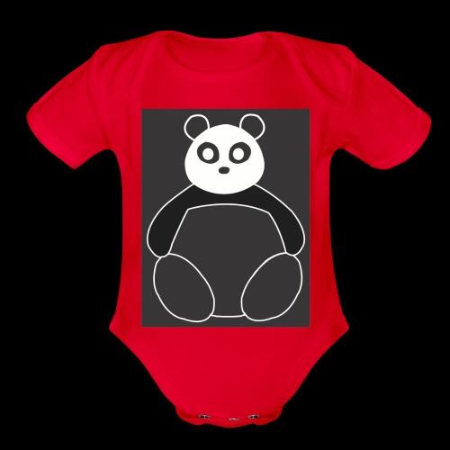 Fat Panda - Organic Short Sleeve Baby Bodysuit