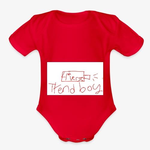 usb drive of the 3rd-4th verse - Organic Short Sleeve Baby Bodysuit