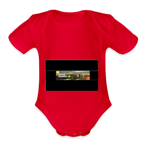 farming logo for youtube - Organic Short Sleeve Baby Bodysuit