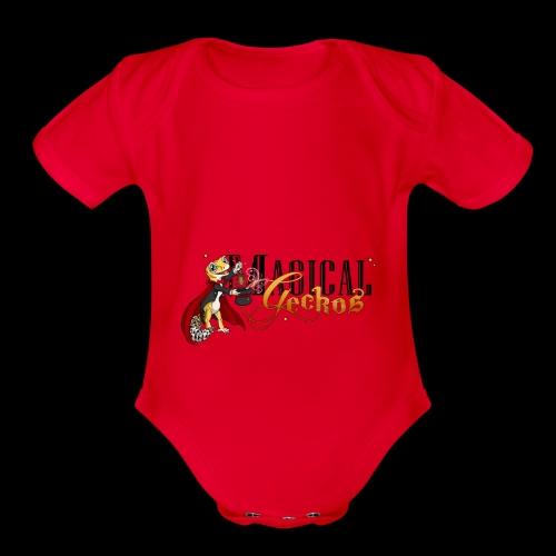 Gecko Magician - Organic Short Sleeve Baby Bodysuit