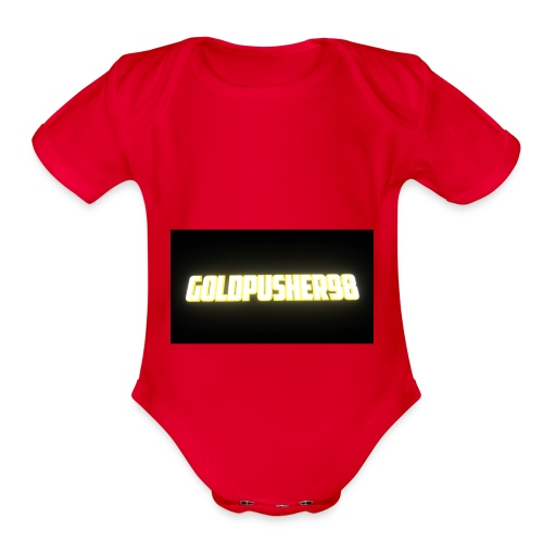 GoldPusher98 - Organic Short Sleeve Baby Bodysuit