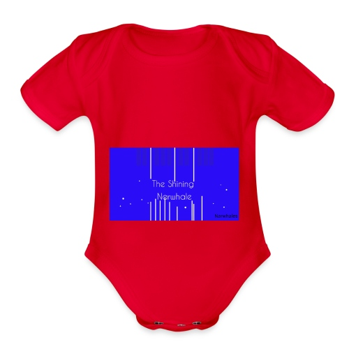 Shining Narwhale - Organic Short Sleeve Baby Bodysuit