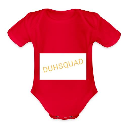 Duhsquad Tee - Organic Short Sleeve Baby Bodysuit