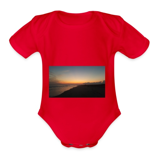 Ocean Sunset - Organic Short Sleeve Baby Bodysuit