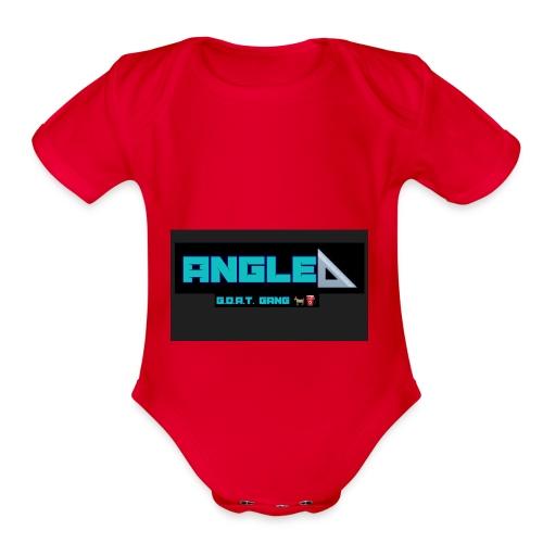 Angle - Organic Short Sleeve Baby Bodysuit
