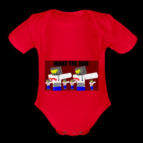 Make The DAB - Organic Short Sleeve Baby Bodysuit