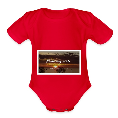 THE HAPPY CANADIAN - Organic Short Sleeve Baby Bodysuit